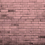 Westcott Brick Wall Art Canvas Backdrop with Hook-and-Loop Attachment (3.5 x 3.5', Pink)
