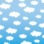 Westcott Classic Clouds Art Canvas Backdrop with Hook-and-Loop Attachment (3.5 x 3.5', Multi-Color)