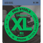 D'Addario EPS530 Extra Super Light XL ProSteels Electric Guitar Strings (6-String, 8 - 38)
