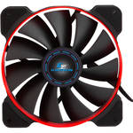 "Kingwin PWM Long-Life Bearing Case Fan for XF Mobile Rack Series (4.7 x 4.7"", Red & Black, Black Blades)"
