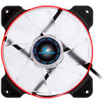 "Kingwin PWM Long-Life Bearing Case Fan with Red LED for XF Mobile Rack Series (4.7 x 4.7"", Red & Black, White Blades)"