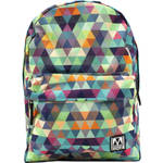 M-Edge Graffiti Backpack with Built-In Battery (Multi-Triangle)
