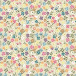 Westcott Spring Flowers Art Canvas Backdrop with Hook-and-Loop Attachment (3.5 x 3.5', Multi-Color)