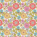 Westcott Summer Flowers Matte Vinyl Backdrop with Hook-and-Loop Attachment (3.5 x 3.5', Multi-Color)