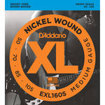 D'Addario EXL160S Medium XL Nickel Wound Electric Bass Strings (4-String, Short Scale, 50 - 105)