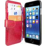 Gecko Gear Deluxe Wallet Case for iPhone 6/6s/7 (Red)