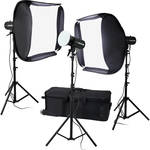 "FotodioX Pro LED-100WB-56 Studio 5600K LED 3-Light Kit with 20 x 20"" Softboxes"