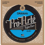 D'Addario EJ51 Hard Tension Polished Basses Pro-Arte Nylon Classical Guitar Strings (6-String Set, Clear Nylon, 28.5 - 42)