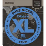 D'Addario EPN21 Jazz Light XL Pure Nickel Round Wound Electric Guitar Strings (6-String, 12 - 51)