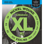 D'Addario ESXL165 Custom Light XL Nickel Wound Electric Bass Strings (4-String, Double Ball End, Long Scale, 45 - 105)