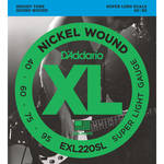 D'Addario EXL220SL Super Light XL Nickel Wound Electric Bass Strings (4-String, Super Long Scale, 40 - 95)