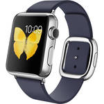 Apple Watch 38mm Smartwatch (2015, Stainless Steel Case, Midnight Blue Small Modern Buckle Band)