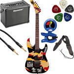 ESP ESP LTD GL-200K George Lynch Signature Series Electric Guitar Starter Kit (Black with Kamikaze Graphic)