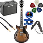 Ibanez AMV10A Artcore Vintage Series Hollow-Body Electric Guitar Starter Kit (Tobacco Burst Low Gloss)
