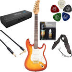 Jay Turser JT-300QMT 300 Series Electric Guitar Starter Recording Kit (Amber)