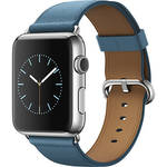Apple Watch 42mm Smartwatch (2015, Stainless Steel Case, Marine Blue Classic Buckle Band)