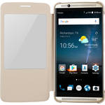 ZTE Clear View Folio Case for Axon 7 (Gold)
