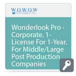 WOWOW Entertainment Wonderlook Pro - Corporate.  1-License For 1-Year.  For Middle and Large Post Production Companies