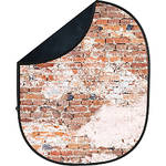 Savage Collapsible 5 x 7' Backdrop (Black/Weathered Brick)