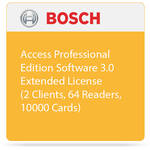 Bosch Access Professional Edition Software 3.0 - Extended License (2 Clients, 64 Readers, 10000 Cards)