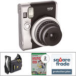 Fujifilm instax mini 90 Neo Classic Instant Film Camera Basic Kit (Black)