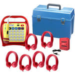 HamiltonBuhl Juke24 Flex Six-Station Listening Center (Red)