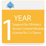 Milestone 1-Year SUP for XProtect Access Control Module License for 2 x Doors