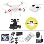 DJI Phantom 2 Bundle with H4-3D Gimbal, FPV Monitor, iOSD and Wheeled Hard Case