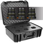 Veydra Mini Prime 25/35/50mm Sony E-Mount (APS-C) Lens Set with Hard Case (Metric Markings)