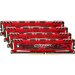 Ballistix 32GB Sport LT Series DDR4 2400 MHz UDIMM Memory Kit (4 x 8GB, Red)