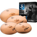 "Zildjian S Family Performer Cymbal Set with 14"" Mastersound Hats, 16"" Medium Thin Crash, 18"" Medium Thin Crash, 20"" Medium Ride"