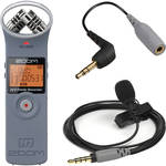 Zoom H1 Recorder Kit with Rode smartLav+ (Gray) & Adapter