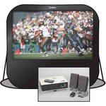 "Sima Pop-Up Projection Screen Kit with Projector, Speakers and Carry Bag (84"")"