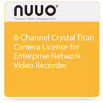 NUUO 8-Channel Crystal Titan Camera License for Enterprise Network Video Recorder