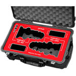 Jason Cases Protective Case for Angenieux Optimo 15-40mm & 45-120mm Lenses (Red Overlay)