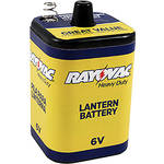 RAYOVAC 6V Heavy-Duty Lantern Battery with Spring Terminals