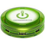 ChargeHub X7 7-Port Round USB Charging Station Value Pack (Edge Glow Green)