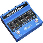 Radial Engineering Headlight Guitar Amp Selector with 4 Outputs and Drag Control
