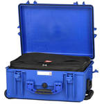 HPRC Water-Resistant Hard Case with Interior Nylon Bag and Built-In Wheels (Blue)