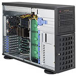 Supermicro SuperChassis Tower/ 4U Chassis (Black)