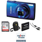 Canon PowerShot ELPH 170 IS Digital Camera Deluxe Kit (Blue)
