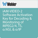 Wohler iAM-VIDEO-2 Software Activation Key for Decoding & Monitoring of MPEG2/4, TS, o/ASI, & o/IP