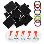 Tentacle Sync Colored Rubber Bands (6) & Hook-and-Loop Pads