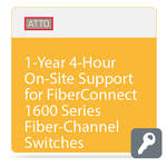 ATTO Technology 4-Hour On-Site Support for FibreConnect 1600-Series Fiber-Channel Switches (1-Year)