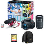 Canon EOS Rebel T5i DSLR Camera with 18-55mm Lens Video Creator Kit with 55-250mm Lens