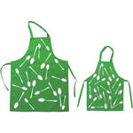 Cyanotype Store Cyanotype Apron (Adult- & Kids-Set, Lime)