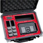 "Jason Cases Hard Travel Case for Blackmagic Video Assist 4K 7"" Recording Monitor (Red Overlay)"