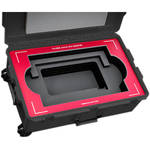 Jason Cases Protective Case for TVLogic LVM-212W Rack Monitor (Red Overlay)