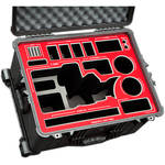 Jason Cases Hard Travel Case for Canon C300 Mark II Camera Kit & LCD Screen (Red Overlay)