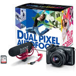 Canon EOS M6 Mirrorless Digital Camera with 15-45mm Lens Video Creator Kit (Black)